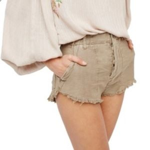 NWT Free People Stand-Off Cut Off Shorts